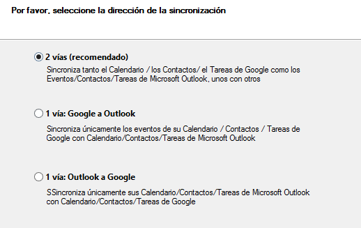 Sincroniza el Calendario y los Contactos de Outlook con un dispositivo de Android