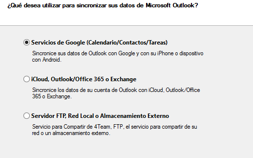Sincroniza los Contactos de Outlook con los de Gmail