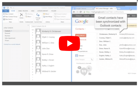 Comment synchroniser les contacts Outlook avec Gmail