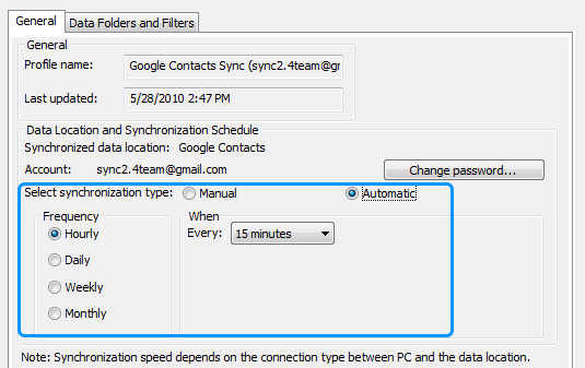 Sync Contacts between Google and Outlook automatically