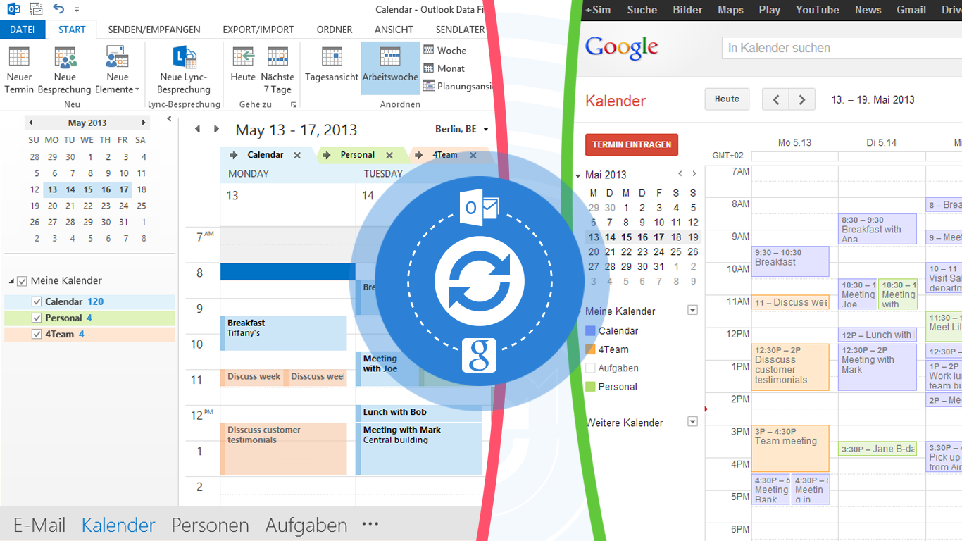 Google Calendar Sync Profiles - share the same calendars with different groups